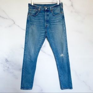 Levi's 501 Original Fit Distressed Button Fly Jean